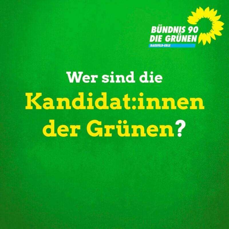Wer sind die Kandidat:innen der Grünen?